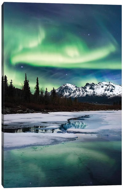 Northern Lights Landscape Canvas Art Print