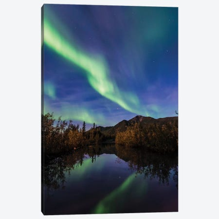 Northern Lights Reflection 3-Piece Canvas #LCS68} by Lucas Moore Canvas Print