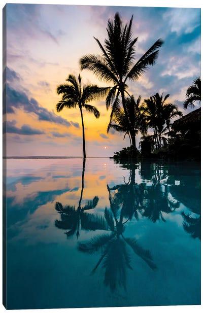 Palm Tree Reflection Canvas Art Print