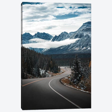 Snowy Drive Canvas Print #LCS85} by Lucas Moore Canvas Wall Art