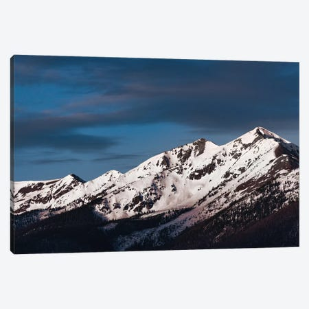 Snowy Peak Canvas Print #LCS86} by Lucas Moore Canvas Artwork