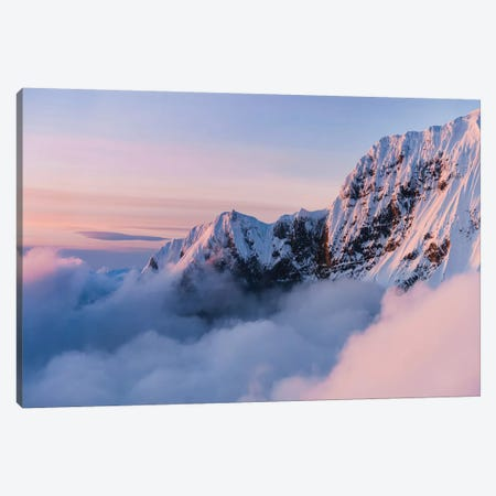 Snowy Peaks Canvas Print #LCS87} by Lucas Moore Canvas Artwork