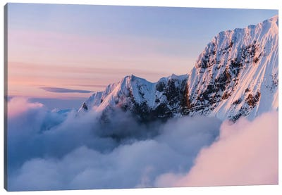 Snowy Peaks Canvas Art Print