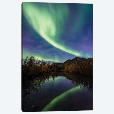 Aurora Reflections Canvas Print #LCS8} by Lucas Moore Canvas Artwork