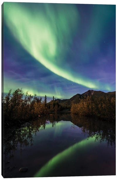 Aurora Reflections Canvas Art Print