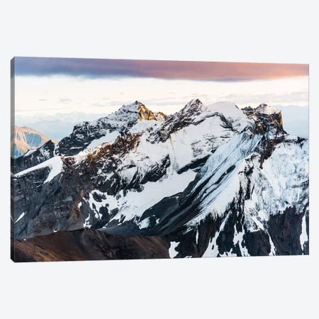 Sunset Peaks Canvas Print #LCS93} by Lucas Moore Canvas Art