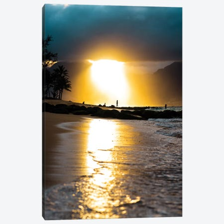 Tropical Sunset Canvas Print #LCS99} by Lucas Moore Canvas Wall Art