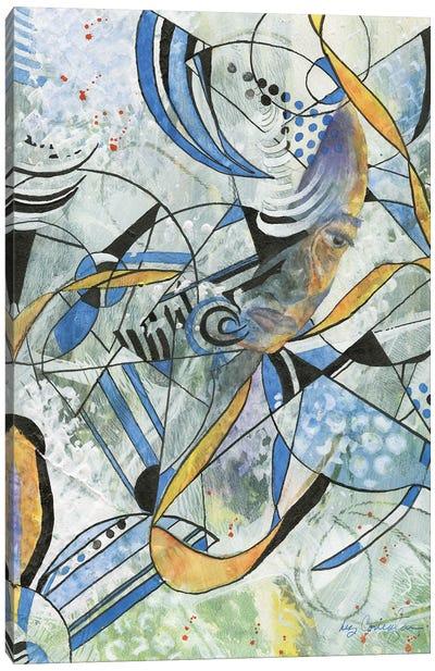Abstract Man Canvas Art Print