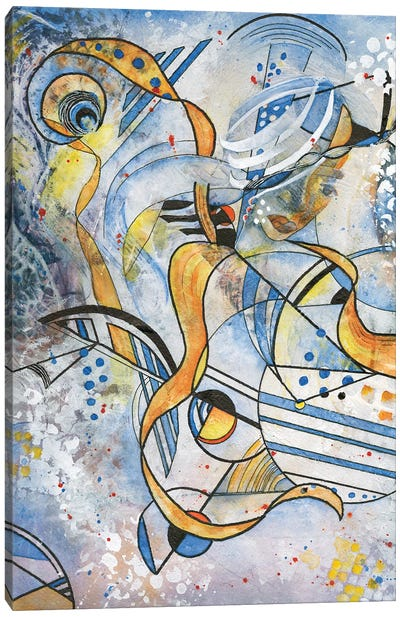 Abstract Woman Canvas Art Print