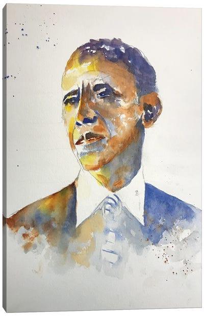 Barack Canvas Art Print