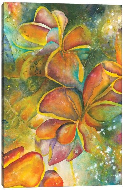 Dancing With Plumeria Canvas Art Print