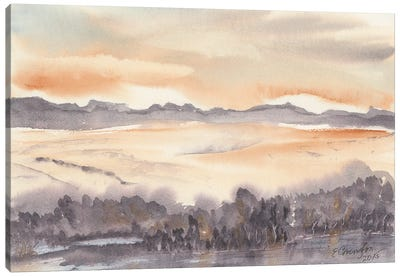 Desert Lake Canvas Art Print