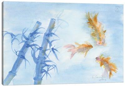 Fish And Bamboo Canvas Art Print