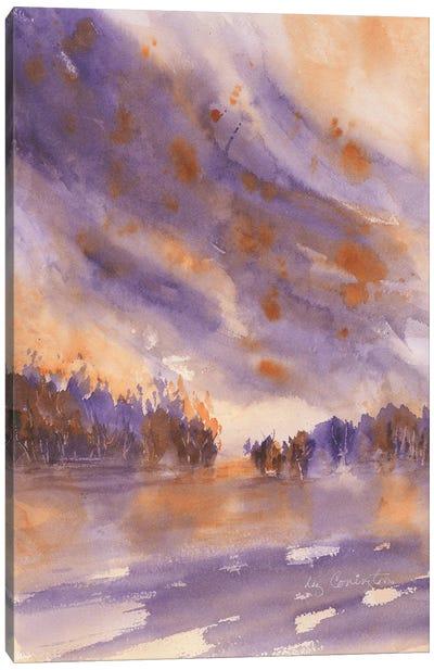 Forest Fire Canvas Art Print