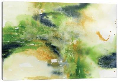 Green Abstract Canvas Art Print