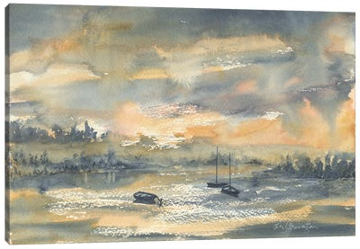 Harbor At Dusk Canvas Art Print