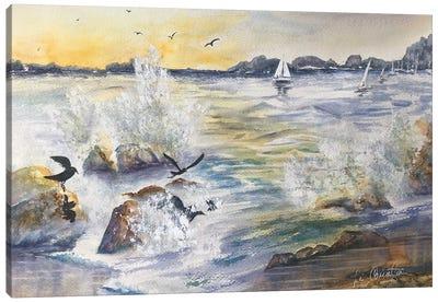 Harbor Birds Canvas Art Print
