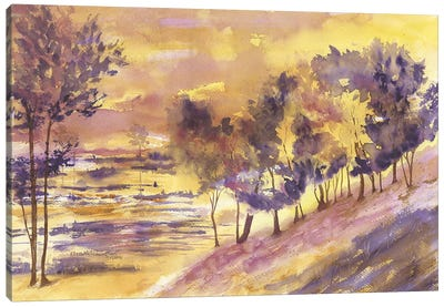 Hillside Trees Canvas Art Print