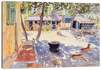 Sunday At The Boy's Home, 1991 Canvas Art Print