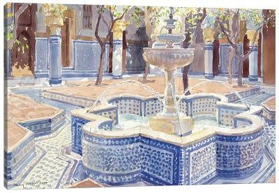 The Blue Fountain, 2000 Canvas Art Print
