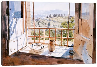 View From A Window, 1988 Canvas Art Print