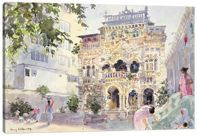House On The Hill, Bombay, 1991 Canvas Art Print