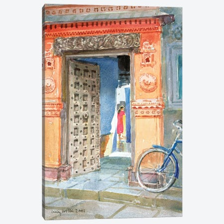 In The Old Town, Bhuj, 2003 Canvas Print #LCW7} by Lucy Willis Art Print