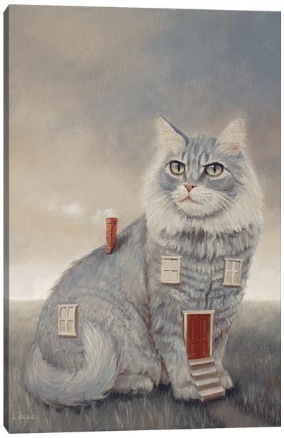 Cathouse Canvas Art Print