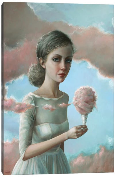 Cotton Candy Clouds Canvas Art Print