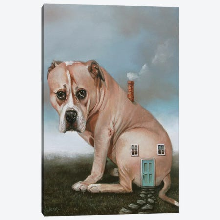 Doghouse 3-Piece Canvas #LCZ13} by Liese Chavez Canvas Art Print