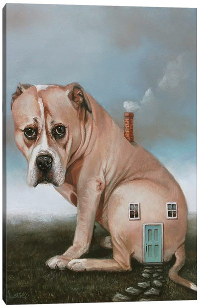 Doghouse Canvas Art Print