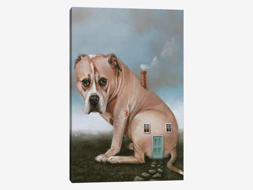 Doghouse by Liese Chavez 1-piece Canvas Print