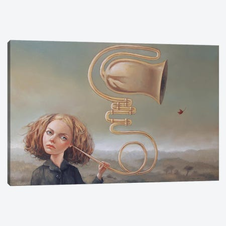 Listening To The Wind Canvas Print #LCZ21} by Liese Chavez Canvas Artwork