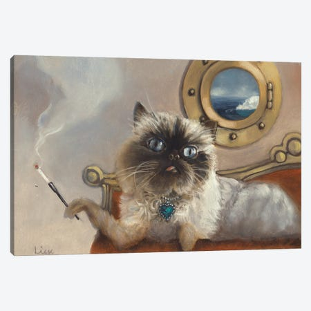 Lulu On The Titanic Canvas Print #LCZ22} by Liese Chavez Canvas Art