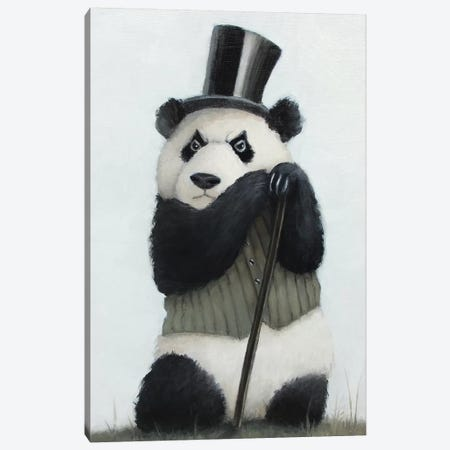 Percival The Perpetually Perturbed Panda Canvas Print #LCZ31} by Liese Chavez Art Print