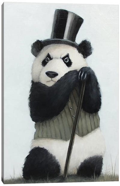 Percival The Perpetually Perturbed Panda Canvas Art Print
