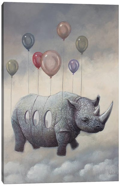 Rhino Air Canvas Art Print