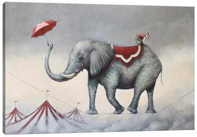 Up In The Air Canvas Art Print