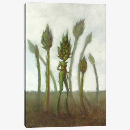 Raw Asparagus Canvas Print #LCZ54} by Liese Chavez Canvas Artwork