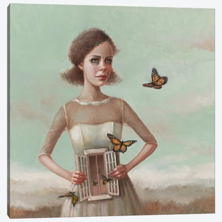 Butterflies In The Stomach Canvas Print #LCZ8} by Liese Chavez Art Print