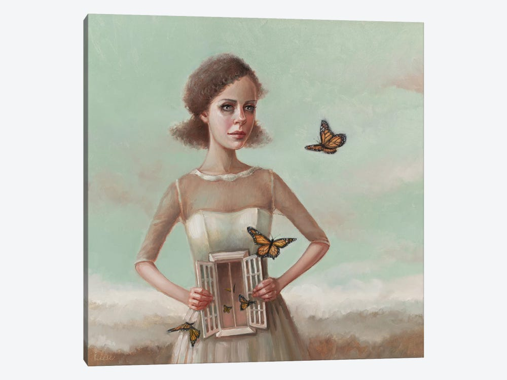 Butterflies In The Stomach by Liese Chavez 1-piece Canvas Art