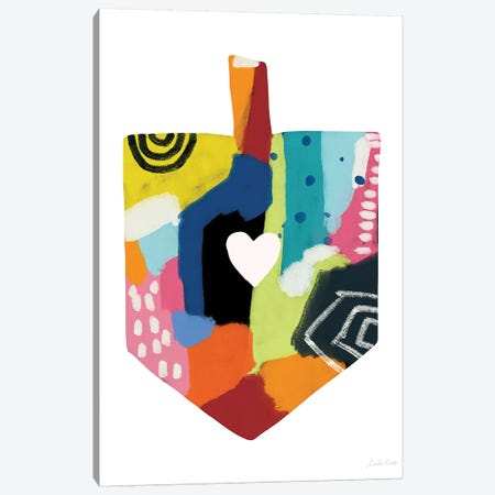 Painted Dreidel Canvas Print #LDA105} by Linda Woods Art Print