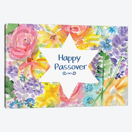 Passover Floral Canvas Print #LDA111} by Linda Woods Canvas Print