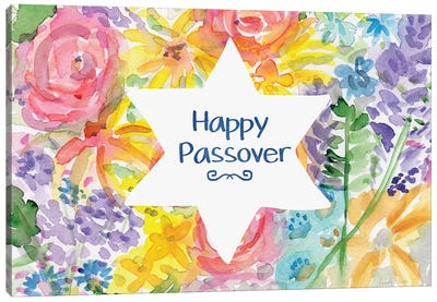 Passover Floral Canvas Art Print