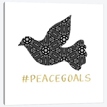 Peace Goals Canvas Print #LDA118} by Linda Woods Art Print