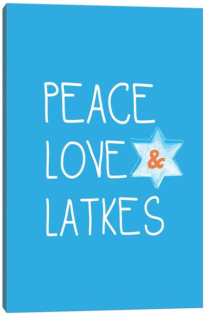 Peace, Love, Latkes Canvas Art Print