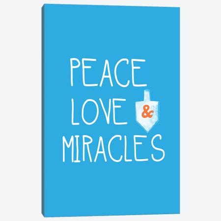 Peace, Love, Miracles Canvas Print #LDA122} by Linda Woods Canvas Artwork
