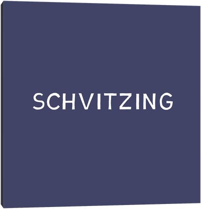 Schvitzing Canvas Art Print