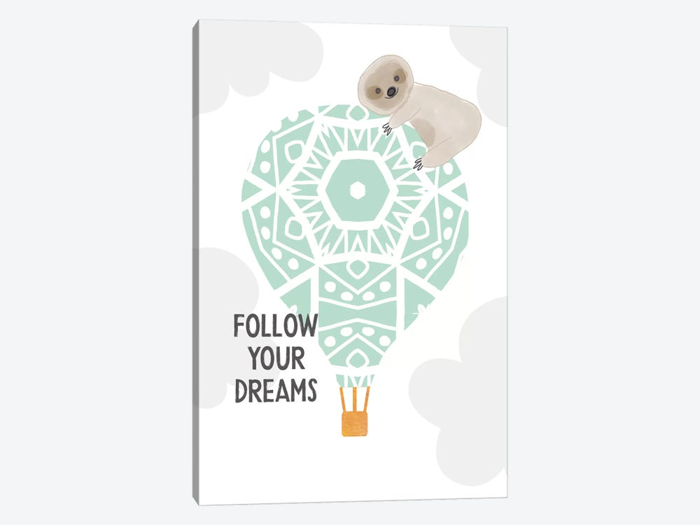 Follow Your Dreams I by Linda Woods 1-piece Canvas Artwork