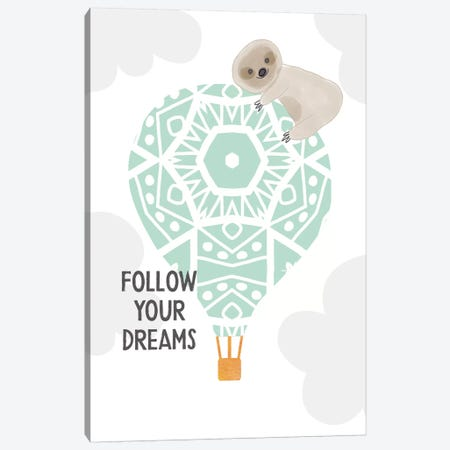 Follow Your Dreams I Canvas Print #LDA12} by Linda Woods Canvas Art Print